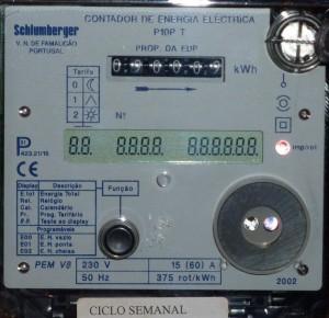 Exemplo de contador de electricidade