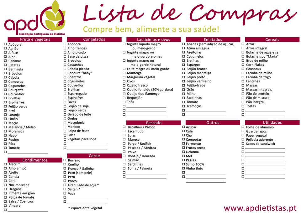 Amado Lista de compras da cozinha » Poupar Melhor GK99