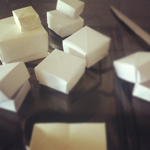 Caixas de origami