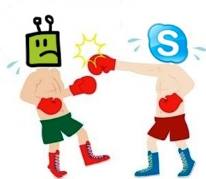 Skype and Fring fight