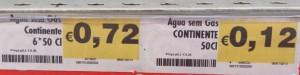 Preços baralhados