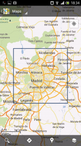 Cache de Madrid num Android