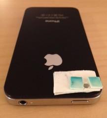 iPhone transformado em microscópio