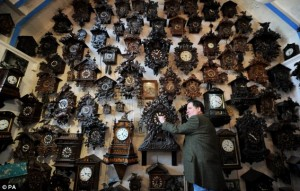 Muitos relógios para mudar a hora