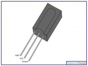Representação do TSOP1738 pelo engineersgarage.com