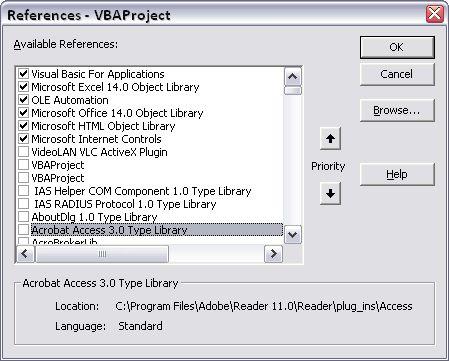 Microsoft Internet Controls e Microsoft HTMLObject Library