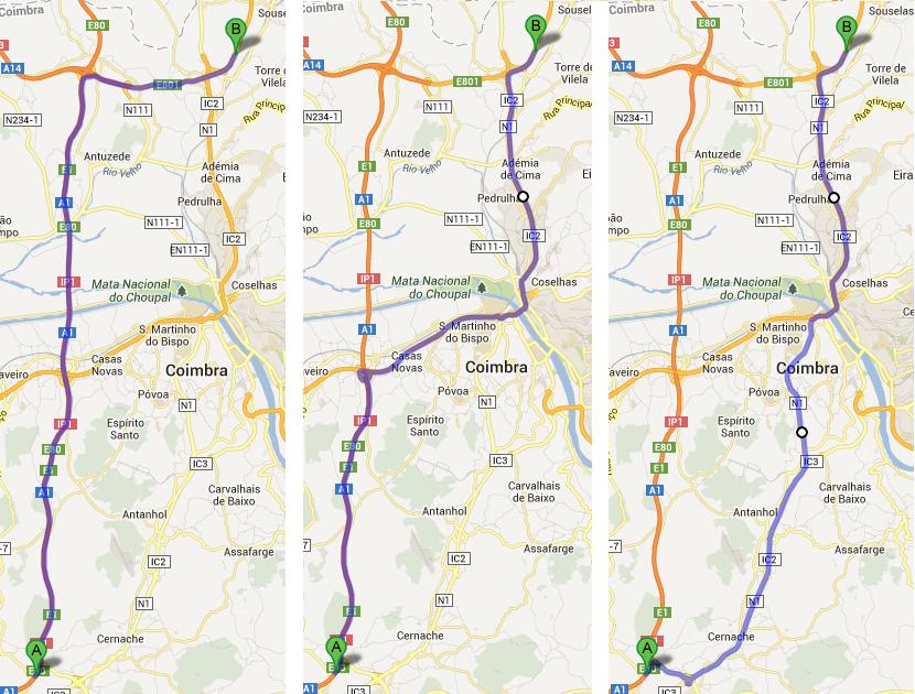 A1 e alternativas em Coimbra