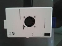 Caixa do Raspberry Pi recortada para a ventoinha