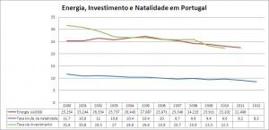 Energia, Natalidade e investimento