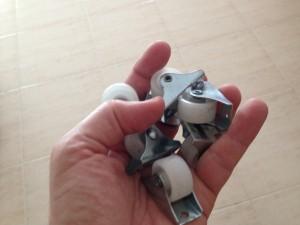 Rodas das gavetas do escorrega e arrmução Stuva do Ikea