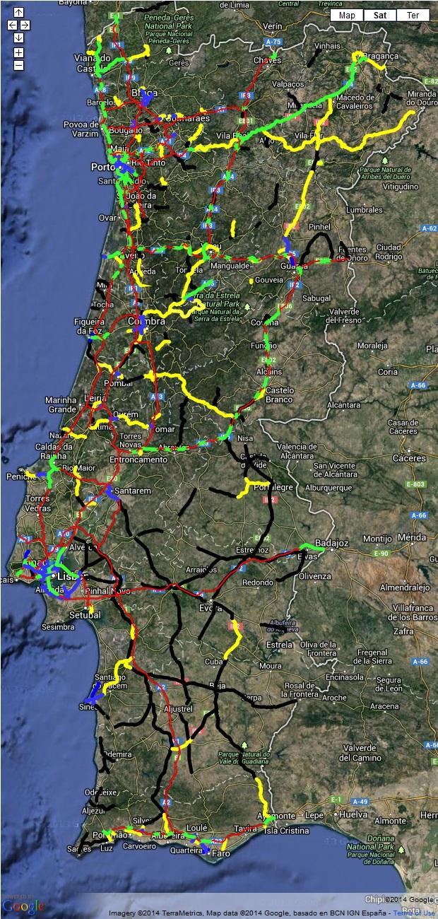 Mapa De Estradas De Portugal Poupar Melhor