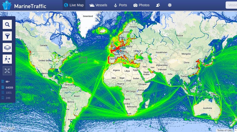 Rotas marítimas mais comuns