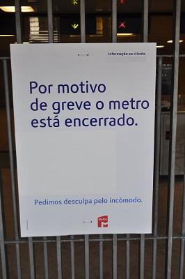 Terça-feira será assim no Metro