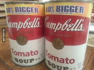 In the world of Campbell's soup, 30% and 40% mean the same thing