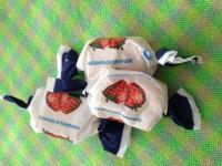 3 caramelos de morango