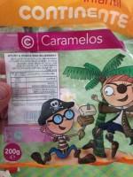 Embalagem de caramelos do Continente
