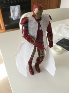 Jedi robe - Teste 2 no Iron Man