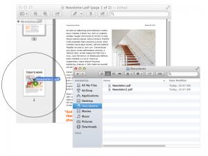 Juntar vários PDF (imagem do suporte Apple)