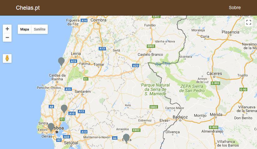 Site Cheias.pt