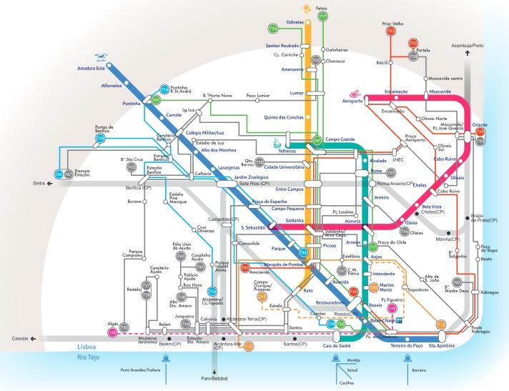 carris lisboa mapa Diagramas do Metro e da Carris de Lisboa » Poupar Melhor carris lisboa mapa