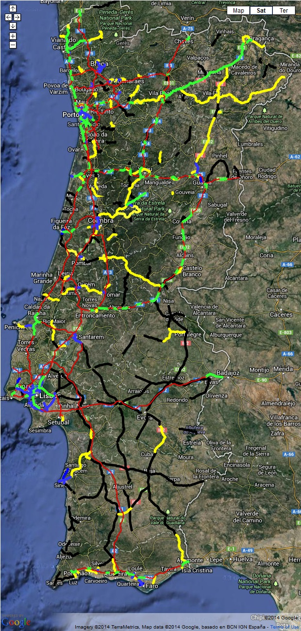 mapa estradas de portugal continental Mapa de Estradas de Portugal » Poupar Melhor mapa estradas de portugal continental